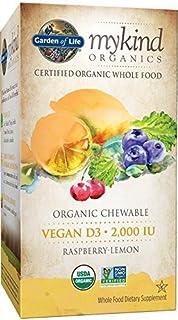 Garden of Life Mykind Organics 2000 IU Vegan D3 Chewable Tablet, Raspberry/Lemon, 30 Count by Garden of Life