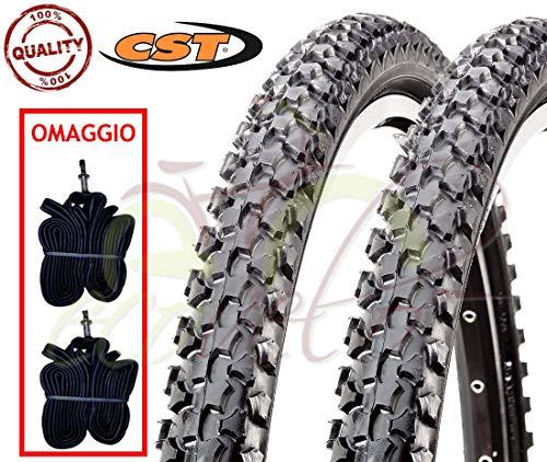 CST 2 CAMERE + 2 COPERTONI Neri per Mountain Bike C-1027 20 X 1.90 (50-406) MTB Mountain Bike Bici Bicicletta Bambino