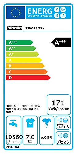Miele WDA111 WCS Freestanding 7kg 1400RPM A+++ White Front-load – Lavadora (Independiente, Color blanco, Front-load, 7…