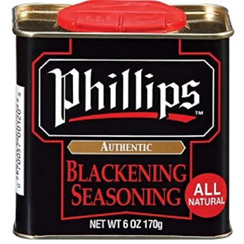 Phillips Blackening Seasoning used in Phillips Seafood Restaurants on Blackened Chicken, Fish & Seafood