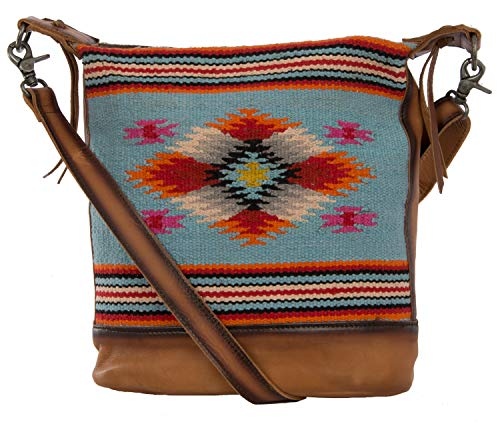STS Ranchwear Saltillo Crossbody Light Blue/Orange/Pink One Size