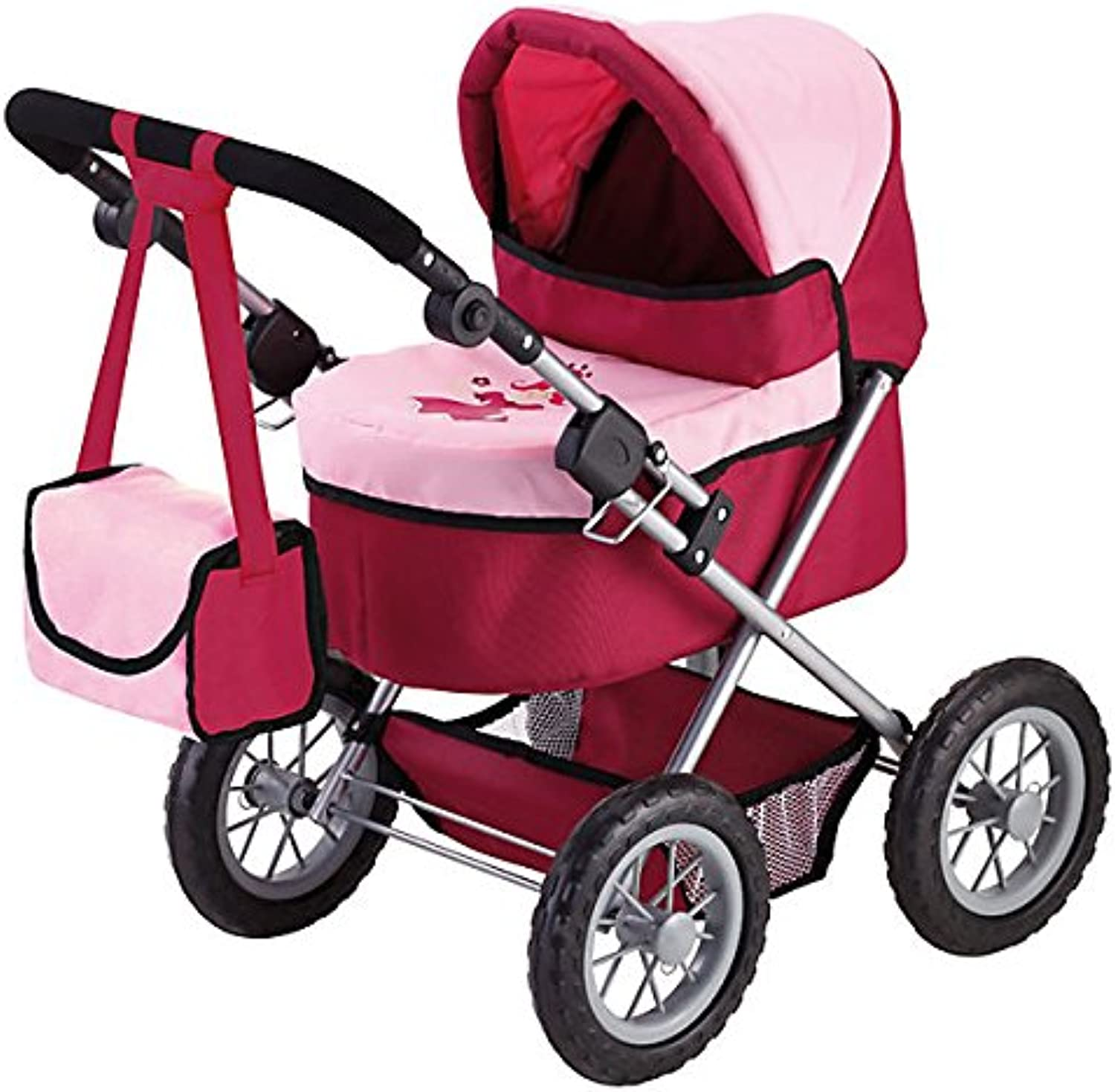 Bayer Design 13014 Trendy Doll Pram, Red and Pink