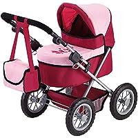 Bayer Design Cochecito de muñeca, Trendy, Color Rojo, Rosa (13014)
