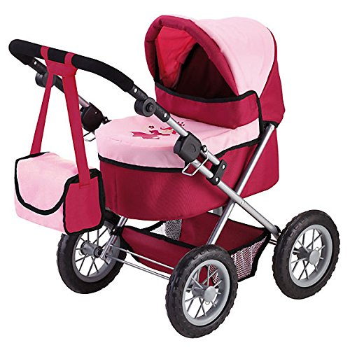 Bayer Design Cochecito de muñeca, Trendy, Color Rojo, Rosa (13014)