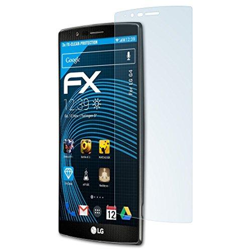 atFolix Schutzfolie kompatibel mit LG G4 Folie, ultraklare FX Bildschirmschutzfolie (3X)