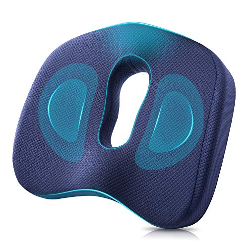 Winjoy Seat Cushion, 100% Memory Foam Chair Pad. Orthopedically Designed for Sciatica/Coccyx/Tailbone, Lower Back Pain Relief. Ideal for Home/Office...