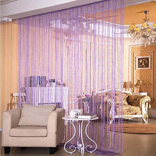 cortinas salon modernas lilas