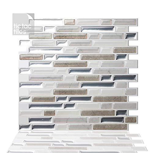 Stick on backsplash tiles look great in rv decor