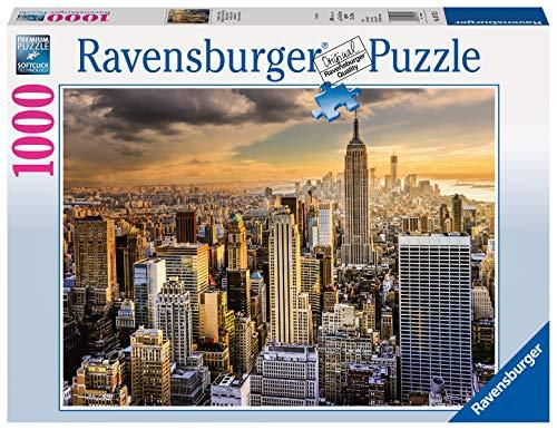 Ravensburger Puzzle, Puzzle 1000 Pezzi, Maestosa New York, Puzzle per Adulti, Puzzle New York, Puzzle Ravensburger - Stampa di Alta Qualità