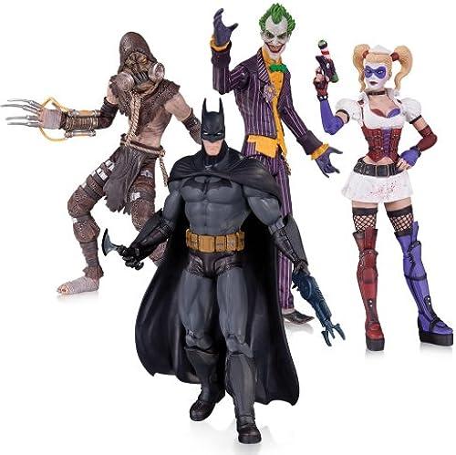 DC Comics Arkham Asylum Joker Harley Batman Vogelscheuche Action Figur (4 ück)