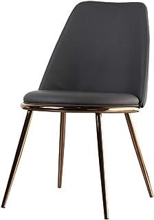 Sillas De Cor Sillas de comedor secundarios fuertes patas de metal de la PU del amortiguador de asiento de atrás sillas de comedor Habitación Ideal for el hogar y la oficina Sillas de comedor cocina