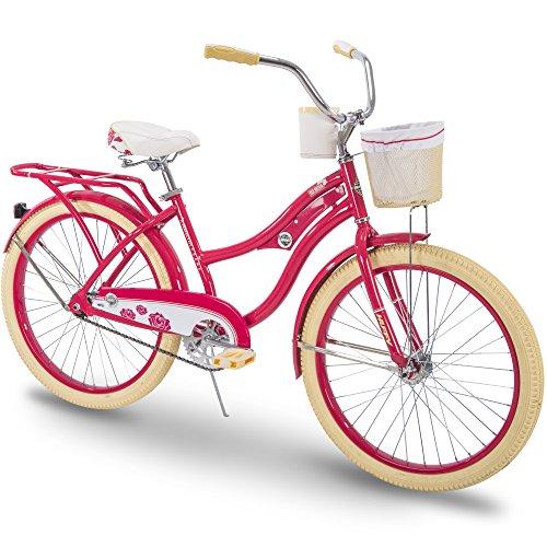 Huffy Cruiser Bike Womens, Holbrook 24 inch, Red