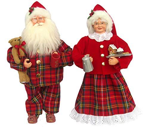 Santa's Workshop Pajama Clauses Figurine, 15' Tall, Red/White