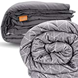 rocabi 25 lbs Adult Weighted Blanket & Two Cover Set (60'x80') A Queen Size Heavy Weighted Comforter for a...