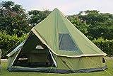 IHCIAIX Tente, DANCHEL Mongolie yourte 300D Oxford Inde Tente Étanche Camping Bell Tent Family Tent Tourist Tents, 5m