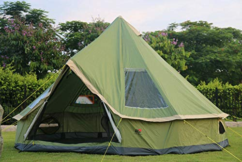IHCIAIX tent, DANCHEL Mongolia yurt 300D Oxford india Tent Waterproof Camping Bell Tent Family Tent tourist tents,5m