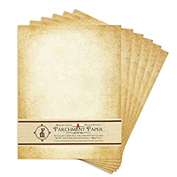 Aged-Look Parchment Stationery Paper for writing and printing- 8.5x11  -20/Pk - IN811AGDPK