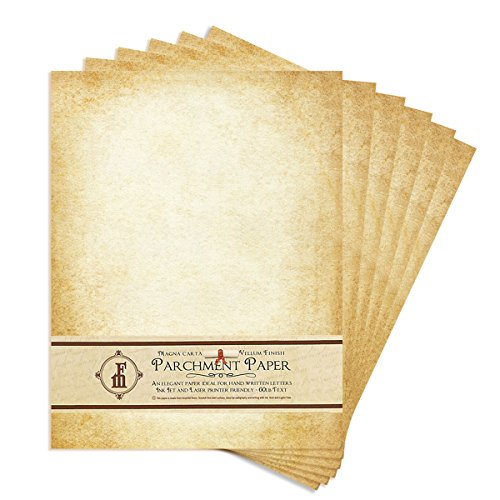 """Aged-Look Parchment Stationery Paper for writing and printing- 8.5x11"""" -20/Pk - IN811AGDPK"""