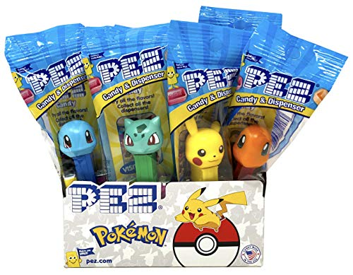 Pez Pokemon Dispensers Individually Wrapped Candy and Dispensers 12 Pack