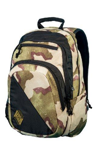 Nitro Stash Rucksack Schulrucksack Schoolbag Daypack Damenrucksack Schultasche schöne Rucksäcke Alltag Fahrradtasche, Desert Camo, 29L