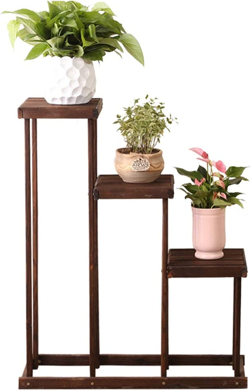 WAN SAN QIAN- Wooden Flower Stand Multi-Layer Floor Garden Plant Frame Living Room Balcony Multi-Function Pot Rack Flower racks (color   A)