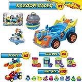 SuperThings Secret Spies Serie  Kazoom Racer Vehculo y Pack Sorpresa 16 Sets   Contiene Kazoom Racer, 10 Sobres One Pack, 4 Secret Hideout y 2 Spy Jets   Juguetes y Regalos para Nios Cumpleaos