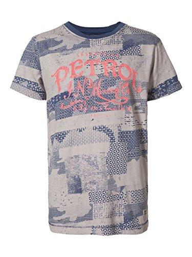 Petrol Industries - jongens T-shirt korte mouwen blauw-natuur patroon, meerkleurig - B-SS17-TSR672