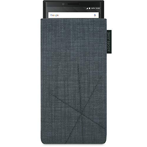 Adore June Axis Tasche kompatibel mit BlackBerry Key2 & BlackBerry Key2 LE, Handyhülle mit Rückzugsfunktion & Bildschirm-Reinigungseffekt, Dunkelgrau