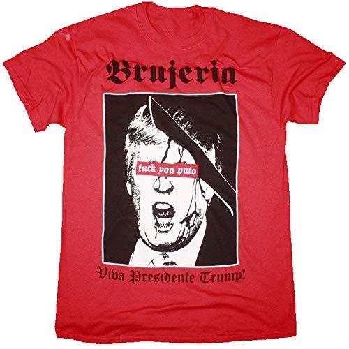 Brujeria Viva Presidente Trump T Shirt Long Sleeve Crewneck Sweatshirt Hoodie Sweatshirt for Youth Kids Men Women