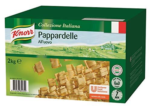 Knorr Pasta Pappardelle all´uovo - breite Bandnudeln mit Ei - Nudeln Großpackung, 2000 g