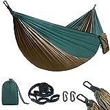 flintronic Hamaca de Camping 270 x 140 cm, Hamaca Colgantes de Nylon Ultraligera para Viajes y Acampadas, 300kg de Capacidad...
