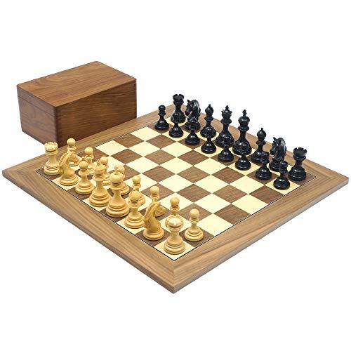 The Regency Chess Company The Garvi ebano e Noce lusso Set di scacchi