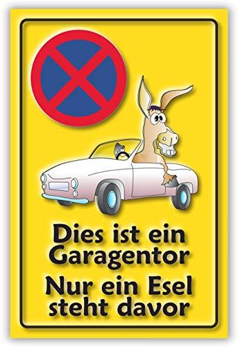 SCHILDER HIMMEL anpassbares Parkverbot Parken verboten Esel Schild 29x21cm Kunststoff, Nr 51 eigener Text/Bild verschiedene Größen/Materialien