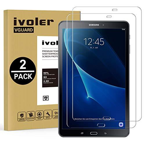 ivoler [2 Unidades] Protector de Pantalla para Samsung Galaxy Tab A 10.1 Pulgadas 2016 (T580N/T585N), Cristal Vidrio Templado Premium [Dureza 9H] [Anti-Arañazos] [Sin Burbujas]