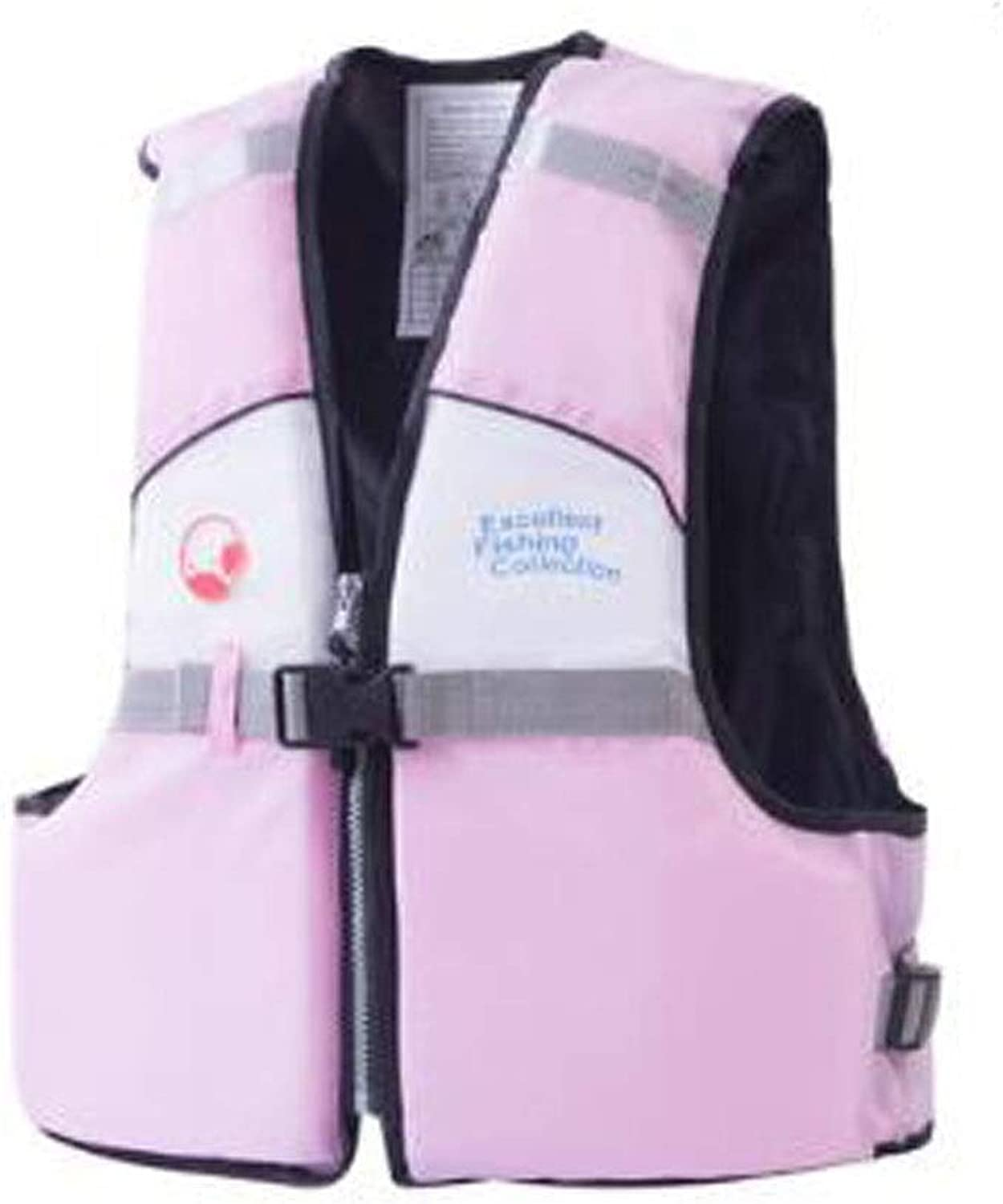Jielongtongxun Life Jacket, Comfortable Fishing Essential, Oxford Cloth Quality Material, Suitable for Snorkeling, Outdoor Play, Surfing, Easy to Carry (Size  M, S, color  Pink) Simple and Beautiful