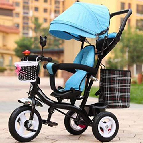 Qinmo Los cochecitos de bebé del cochecito de bebé niños del triciclo masculino y femenino bici del bebé de la carretilla / 1-2-3-6 años de edad, Kid bici del bebé de la carretilla (Color: 1), 1