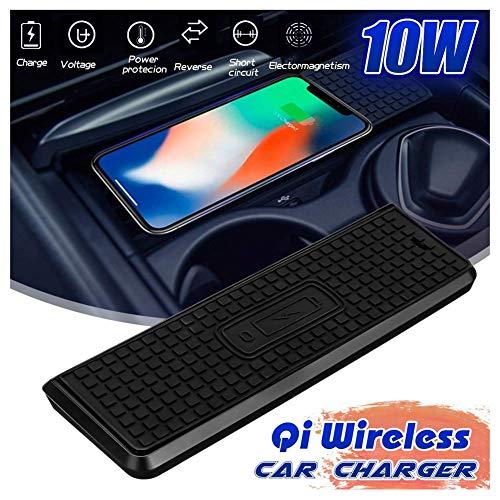SEESEE.U - Carcasa de carga rápida inalámbrica para coche (10 W, compatible con BMW Serie 3 14-18, compatible con iPhone 8/X/Xsmax