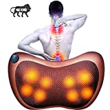 JIG'sMART Electronic Neck Cushion Full Body Massager Pillow with Heat for pain relief Massage...