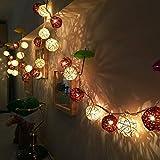 SHENTAO 2020 EN Warm 20 LED Rattan Kugeln Farbe Weihnachtshintergrund Tag LED Outdoor Deko Lampe...