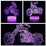 3X Motor Motorcycle 3D Night Light Table Lamp 7 Colors Changing Desk Lamp 3D Lamp Novelty Led Night Lights Led Light (Motor)