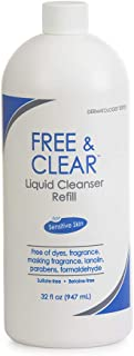 Free & Clear Liquid Cleanser | Fragrance, Gluten and Sulfate Free | For Sensitive Skin | 32 Fl Oz