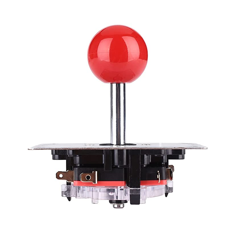 Hanbaili Red 8 Way Round Joystick Controller Fighting Stick Replacement Parts DIY For Video Arcade Game Machine
