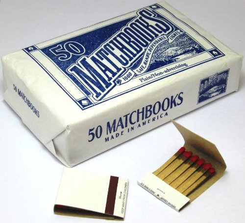 1000 Plain White Matches Matchbooks for Wedding Etc Wholesale Made in America