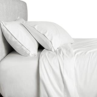 Twin XL Extra Long 800 Thread Count Egyptian Cotton 800TC Solid DUVET Cover Set, White
