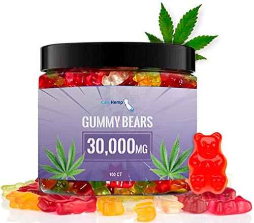 Hemp Gummies for Pain and Anxiety- Natural Hemp - Made in USA - 100 Count 30000 MG High Potency, Gummies Help Stress Relief - Rich in Vitamins B, E, Omega 3, 6, 9