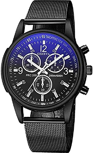JZDH Mano Reloj Reloj de Pulsera Moda Mujer Sport Reloj de Malla Banda de Malla Acero Inoxidable Analógico Reloj de Pulsera Dama Mujer Luxury Silver Relojes Negro Relogio Relojes Decorativos Casuales