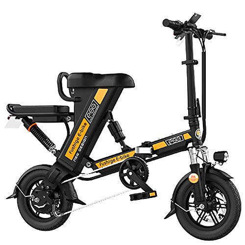 Great Deal! HAOYF Electric Bike Foldable, 12 Inch Tires, Motor 240W, 36V 8-20Ah Removable Lithium Ba...