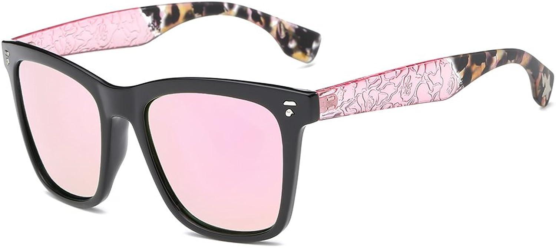 AMZTM Square Frame Reflective Mirrored Lens Polarized Women Sunglasses