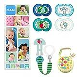 MAM Essential Soothing Set, juego de regalos para bebés de +6 meses, con 2...