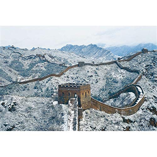 YWAWJ Una de las Siete Maravillas del Mundo, la Gran Muralla de China, Juguetes educativos Fotografía aérea Rompecabezas Tarjeta de niños for Adultos (Color : 300Tablets)
